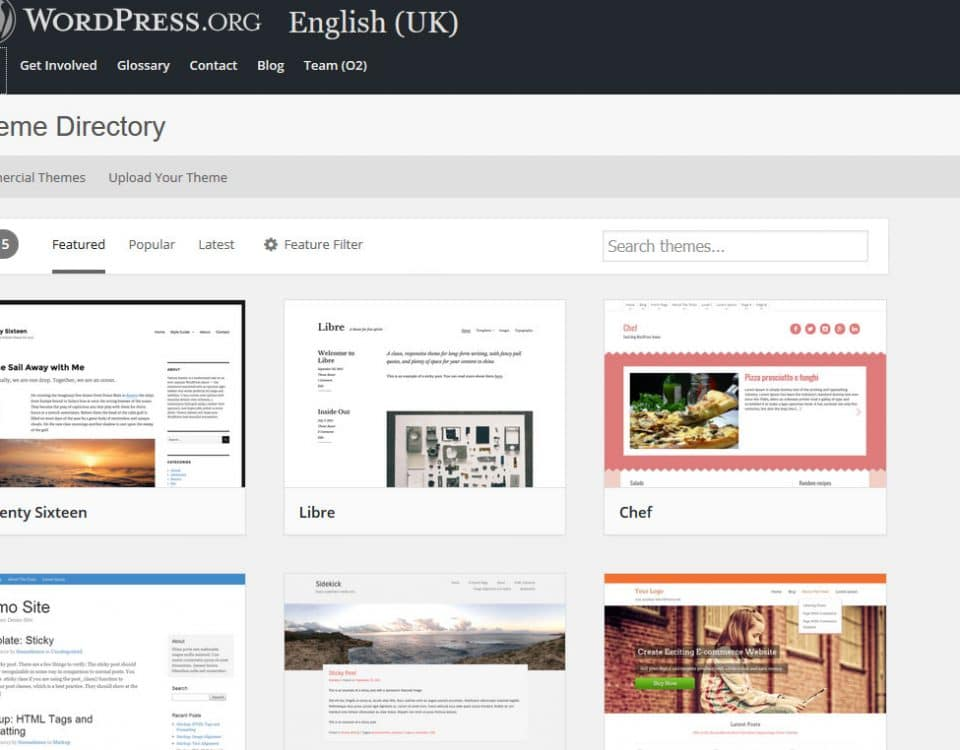 how to find wordpress themes