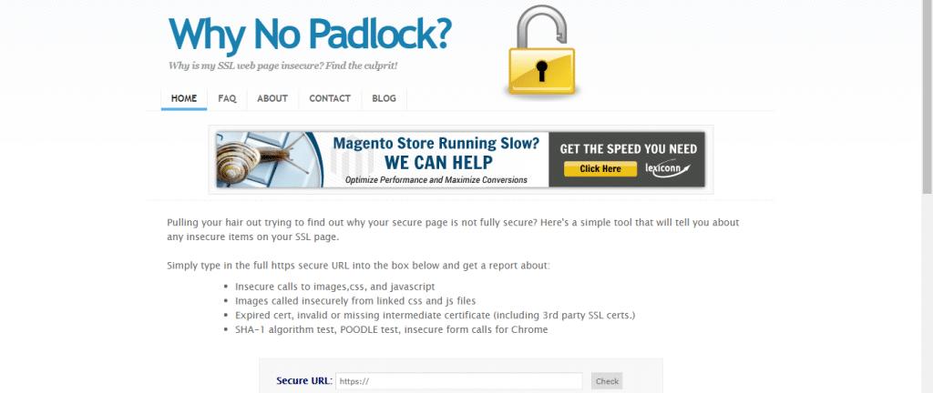 Why no Padlock?