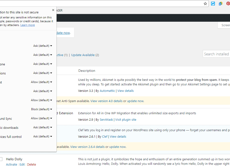 Wordpress Http - Insecure