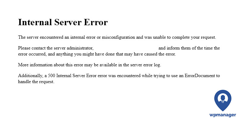 Wordpress 500 Internal Server Error